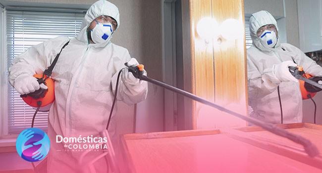Limpieza y desinfección de la oficina en cuarentena